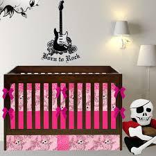 Pink Cheetah Crib Bedding Rock Princess Crib Bedding Pin Faux Fur Pink Leopard