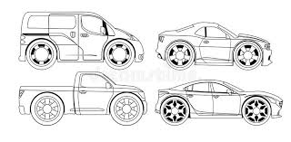 coloring book stylized cars stock vector image 46066612