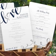 printable wedding program fans printable wedding program fan script navy silver