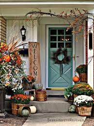 serendipity refined fall harvest porch decor with reclaimed wood