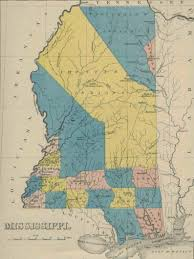 Ms Map Mississippi Early Statehood Map 1822