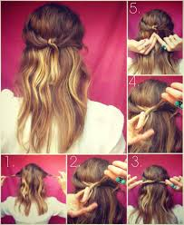 tutorial half up half down party hairstyle indian beauty tips