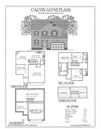 Two Story House Plans With Basement by Calvin Jayne Plans Two Story 3508 6337 Sq Ft