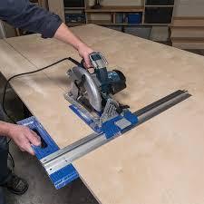 convert circular saw to table saw rip cut circular saw edge guide