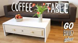 how to build a table with drawers how to make a coffee table with a drawer youtube