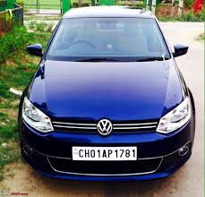 car picker blue volkswagen vento