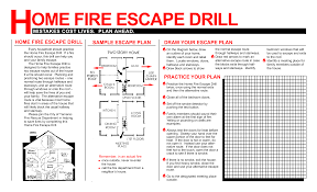 Fire Exit Floor Plan How To Conduct Home Fire Drills And A Printable Drill Template