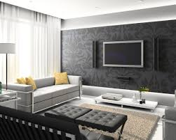 modern bedroom feature wall ideas large print wallpaper black with