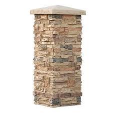 amazon com faux stone column wraps with easy install kit pole