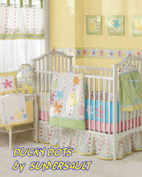 Yellow Crib Bedding Set Baby Yellow Polka Dots Ducks Baby Nursery Crib Bedding Set The