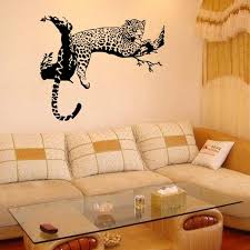leopard decor for living room leopard on tree wall art mural decor living room bedroom wall decal