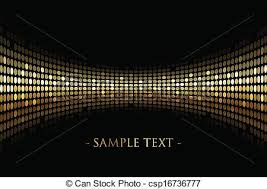 vectors illustration of black background with gold lights vector