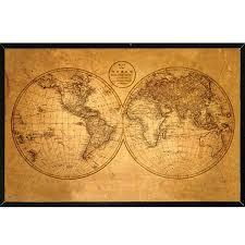 Old World Map Old World Map Framed U2013 Oham