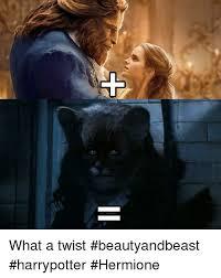 What A Twist Meme - what a twist beautyandbeast harrypotter hermione meme on