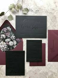 and black wedding invitations 28 trendy moody wedding stationery ideas weddingomania
