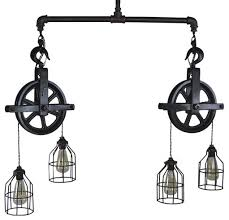 industrial pulley pendant light double barn pulley ceiling light industrial pendant lighting pulley