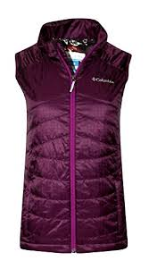 columbia morning light jacket columbia youth girls morning light omni heat vest burgundy l 14
