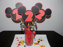 mickey mouse center pieces mickey mouse centerpiece hunters 1st bday mickey