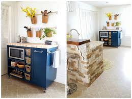 Kitchen Cabinet On Wheels Custom Diy Rolling Kitchen Island Reality Daydream