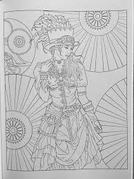 132 steampunk coloring pages images coloring