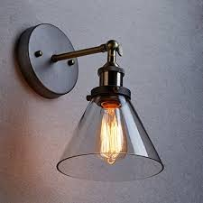 Edison Ceiling Light Claxy Industrial Edison Ceiling Light Vintage Glass Wall Sconce