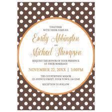 polka dot wedding invitations invitations orange brown polka dot
