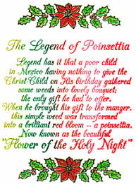 Pointsettia The Poinsetta Legend Just For Kids Magazine Christmas Issue