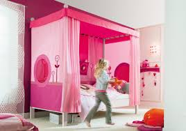 girls four poster beds mesmerizing white bed for kids with pink canopy and silk curtains