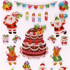 cute santa claus reindeer party glitter stickers japan cute