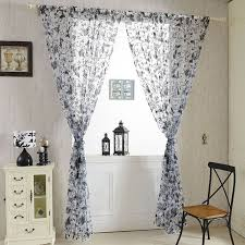Pattern Drapes Curtains Butterfly Sheer Voile Curtains Panel Floral Pattern Screening