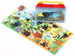 bug terrarium insect sponge stickers and sticker book from japan