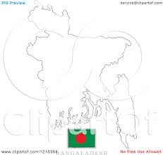 Sri Lanka Map Blank by Clipart Of A Bangladesh Flag And Map Outline Royalty Free Vector