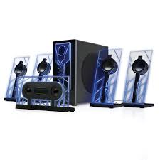 pioneer 5 1 surround sound home theater system 5 1 surround sound computer speakers with 80 watts and blue led