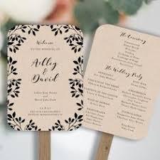 rustic wedding fan programs wedding fan program editable ms word template diy lace gold