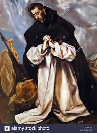 a painter painting depicting st dominic in prayer by el greco 1541 1614 a