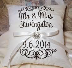 wedding pillows ring bearer pillow mr mrs ring pillow wedding pillow