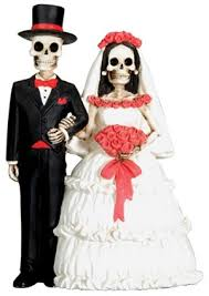 skull cake topper day of the dead skeleton marriage wedding dia de los