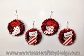 new orleans crafts by design mini tinsel wreath ornaments