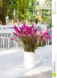 Flower Dining Table Flower Vase On Dining Table Stock Photo Image 49954170