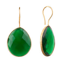 green drop earrings onna ehrlich gemstone teardrop earrings