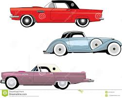old cars drawings vintage cars old cars set stock vector image 45190476