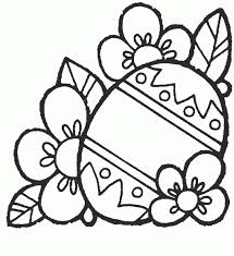 easter egg with flowers free printable coloring pages coloring