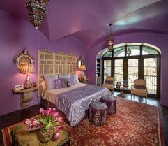 mint and purple bedroom bedroom mediterranean with dark purple