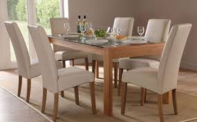 Glass And Oak Dining Table Set Oak Dining Room Table And Chairs Oak Dining Table And Chairs With
