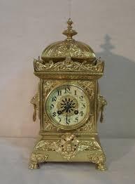 Mantel Clocks Antique French Brass Mantel Clock 390641 Sellingantiques Co Uk
