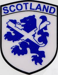 scotland saltire on lion rampant flag car sticker shield self cling