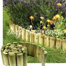 garden border fence 6 x 1 wooden garden border rolls lawn edging
