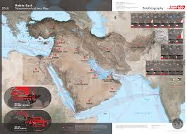 Middle East Map by Middle East Telecommunications Map 2016
