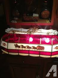 budweiser stained glass pool table light budweiser pool table light classifieds buy sell budweiser pool
