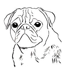 pug coloring pages coloringsuite com
